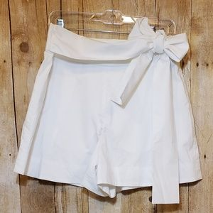 NWT + J. Crew + White bow shorts